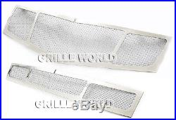 Fit 2010-2015 Cadillac SRX Stainless Steel Mesh Grill Insert Combo Pack