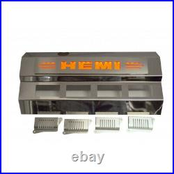 Fuel Rail/Coil Pack Covers withRed LED'HEMI' Logo for 09-18 Challenger Polished