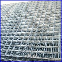 Galvanised Stainless Steel Welded Wire Mesh Panels Roll Fencing 6 Pack of 8ftx4f