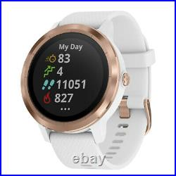 Garmin Vivoactive 3 GPS Smartwatch White, Rose Gold with Extended Warranty Pack