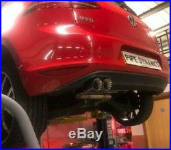 Golf MK7 2.0 GTD (without sound pack) Back Box Delete PIPE DYNAMICS EXHAUST Blue