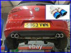 Golf MK7 2.0 GTD (without sound pack) Back Box Delete Quad Conversion Exhaust