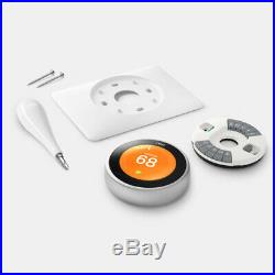 Google Nest Learning Thermostat 3rd Gen Stainless Steel 2-Pack (T3007ES)