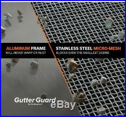 Gutter Guard 4 ft. Pine needles Roof Sand-Grit Stainless Steel (20-Pack)