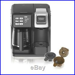 Hamilton Beach 2 Way Coffee Maker Flex Brew 12-Cups-Pot or 1-K-Cup Pack(Ground)