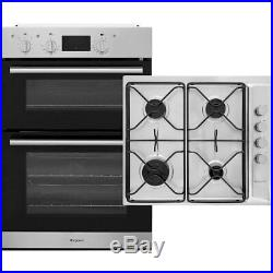 Hotpoint K002971 Built In 60cm A/A Electric Double Oven Gas Hob Oven & Hob Pack