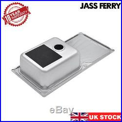 JASS FERRY Stainless Steel Kitchen Sink 1.0 Large Bowl With One Lever Tap Pack