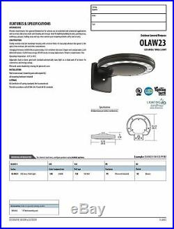 Lithonia Lighting OLAW23 53K 120 PE BZ M2 LED Outdoor Wall Pack Area Light