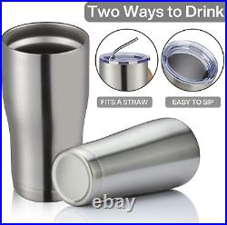 Meway 20Oz Stainless Steel Tumblers 12 Pack Bulk, Vacuum Insulated Coffee Cup Wi
