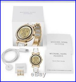 Michael Kors Access Sofia Watch -White Link-Touchscreen MKT5039 Sealed pack