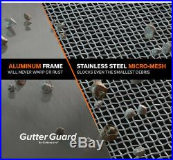 Micro Mesh Gutter Guard 10 Pack 4 ft. Stainless Steel Wire 6 in. Prevents Debris