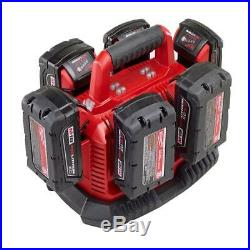 Milwaukee M18 Rapid Charging Station Power Tool Li-Ion Six Pack Battery Charger