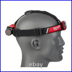 Milwaukee Pocket Flood Light LED Rover Rechargeable and Headlamp Hard Hat 2 Pack