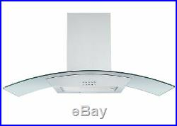 Montpellier Stainless Steel Gas Range Cooker & 90cm Curved Glass Hood Pack