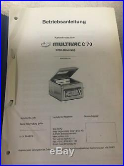 Multivac C70 Vaccum Pack Machine With Heavy Duty Stainless Steel Table