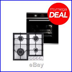 MyAppliances REF50293 Multifunctional Oven and Stainless Steel Gas Hob Pack