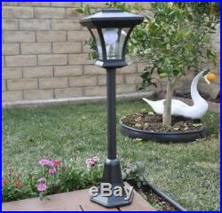 NEW 4 Pack ENERGIZER Outdoor Solar Lamp Post Garden Lawn Yard Walkway LED Light