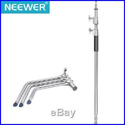 Neewer 3 Packs Stainless Steel Heavy Duty C-Stand Adjustable Sturdy Tripod