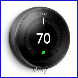 Nest 3rd Generation Learning BLACK Programmable Thermostat TWO-Pack