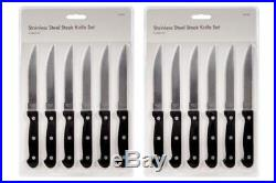 New Set 6 / 24 Stainless Steel Knife Steak Knives Kitchen Cutlery Set Serrated