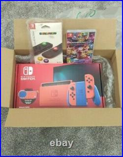 Nintendo Switch Mario Red & Blue Edition + Mario Kart 8 Deluxe Pack-