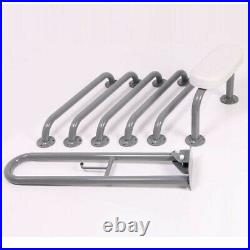 Nymas NymaPRO Exposed Fixing Grab Rails Back Rest for Doc M Toilet Pack Blue