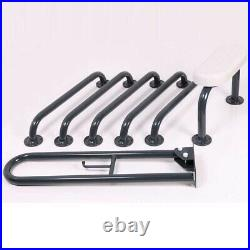 Nymas NymaPRO Exposed Fixing Grab Rails Back Rest for Doc M Toilet Pack Grey