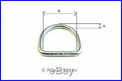 O & Dee D Ring rings A4 316 stainless steel polished welded 15 20 25 30 40 50mm