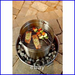 Orion Cooker Outdoor Convection Cooker Stainless BBQ Smoker Turkey Fryer 2 Pack
