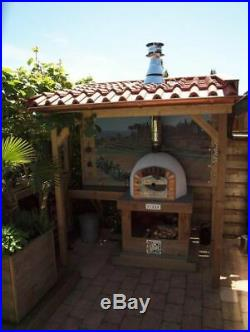 Outdoor Brick Wood Fired Pizza Oven 60cm Prestige Package