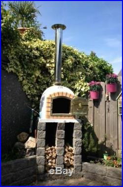 Outdoor Brick Wood Fired Pizza Oven 70cm Prestige Package