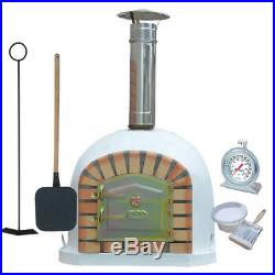 Outdoor Brick Wood Fired Pizza Oven 80cm Prestige Package