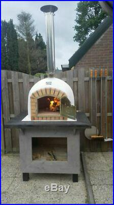 Outdoor Brick Wood Fired Pizza Oven 90cm Prestige Package