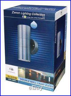 Outside Stainless Steel Up Down Outdoor Wall Mounted LED Light 2 Pack IP65 Rated