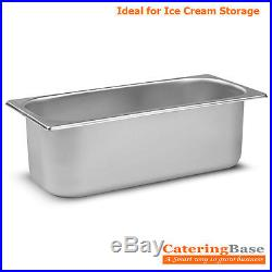 PACK of 10 Stainless Steel 5 Litre Ice Cream Napoli Pans Container