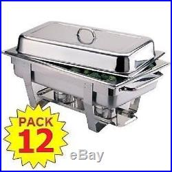 Pack 12 Stainless Steel Chafing Dish Sets Free Next Day Delivery