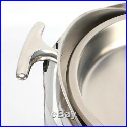 Pack Of 2 Stainless Steel Chafing Dish Sets Round Roll Top Food Warmers 6.8 L