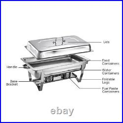 Pack Of 6 Stainless Steel Chafing Dish Sets
