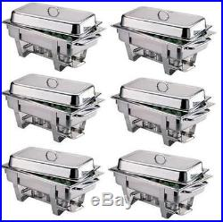 Pack Of 6 Stainless Steel Chafing Dish Sets Free Next Day Delivery