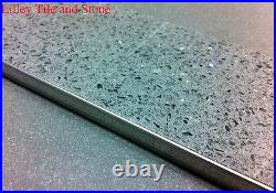Pack of 5 Stainless Steel Square Edge Tile Trim 6- 8-10-12.5mm Deep / 2.5m Long