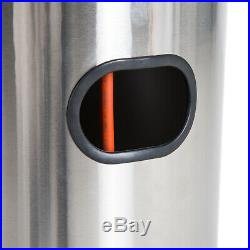 Patio Gas Heater Tall Outdoor Pack Steel Box Stainless Stand Cover High Indoor