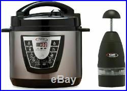 Power Pressure Cooker XL 10 QT Electric Canner As Seen on TV Bonus Pack Chopper