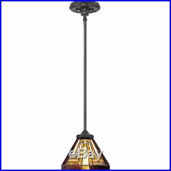 Quoizel TFST1508VB Transitional Stephen Tiffany Mini Pendant, Brown 2 Pack