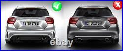 Rear Diffuser Exhaust Tips For Mercedes W176 12-18 A-Class Tailpipe Sport Pack