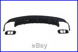 Rear Diffuser and Exhaust Tips for MERCEDES CLA W117 2013+ Sport Pack Black