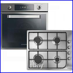 Refurbished Hoover HPRGM60SS Multifunction Electric Oven & Gas Hob Pack