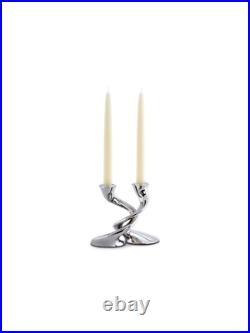 Robert Welch Windrush Stainless Steel Candlestick, Pack of 2 RRP £180