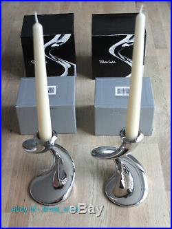 Robert Welch Windrush Stainless Steel Candlesticks. Pack of 2. Unwanted Present