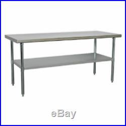 STORAGE SALE EXTRA LONG WORKBENCH 1800mm Stainless Steel Flat packed 430 Grade