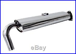 Single Quiet Pack Exhaust Stainless Steel Type 4 1700-2000 VW T2 Late Bay